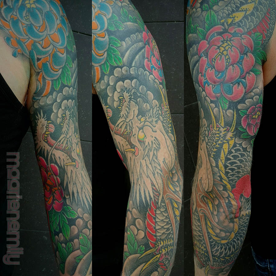 tattoos design by maarten, japanese sleeve