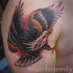 tattoos design by maarten shoulder eagle