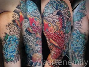 tattoos design by maarten japanese koi