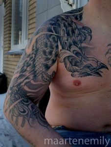 tattoos design by maarten neotraditional phoenix