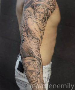 tattoos design by maarten 1needle full sleeve