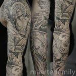 praying hands & flowing angel design by maarten, 1 needle