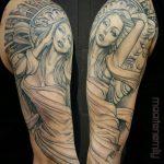 flowing angel on arm design by maarten