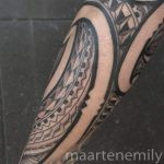 freehand poly arm tattoos by maarten